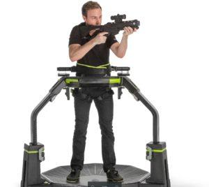 test du virtuix Omni en VR